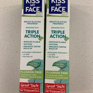 NEW Kiss My Face 2 Triple Action Toothpaste